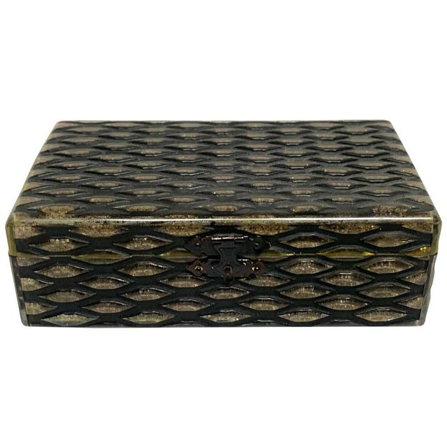 French Art Deco Herringbone Celluloid Box For Sale - Image 13 of 13