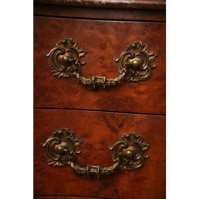 Late 19th Century Antique Louis XV Chest of Drawers With Verona Marble Top For Sale - Image 5 of 10