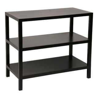 2 Shelf Side Table in Hand Rubbed Black For Sale