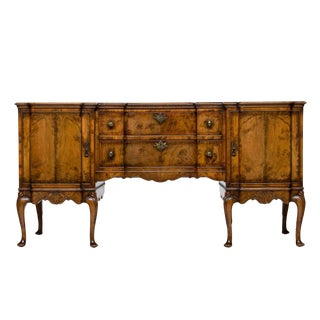 19th Century English Walnut Serving Sideboard For Sale