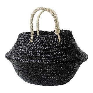 Petite Black Belly Basket - Plain