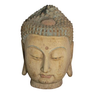 Chinese Buddhist Head For Sale