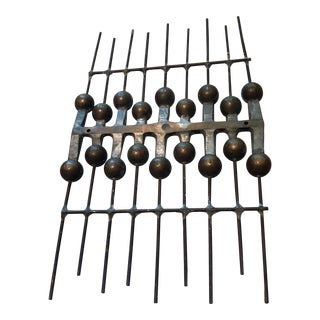 Vintage 60s 70s Brutalist Wall Hanging Sculpture Mid-Century Modern Metal Art For Sale