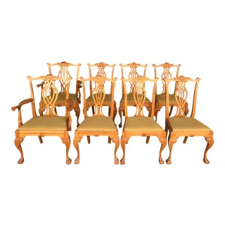 20th Century Boston Style Chippendale Mahogany Ball and Claw Foot Chairs - Set of 8 For Sale