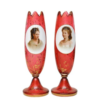 Pair of Porcelain Vases For Sale
