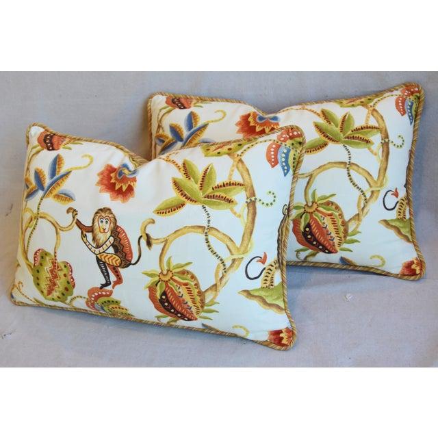 "Blue P. Kaufmann Bazaar Paradise Animal Feather/Down Pillows 26"" X 17"" - Pair For Sale - Image 8 of 13"