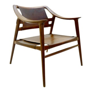 Rastad & Relling 'Bambi' Armchair in Cognac Leather - Circa 1970's Norway For Sale