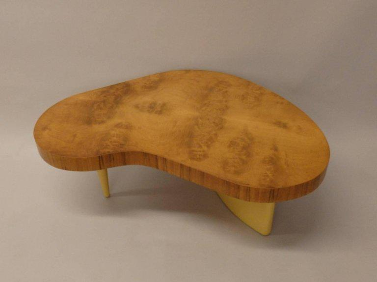 Art deco gilbert rohde herman miller burl top coffee table image 6 of 7