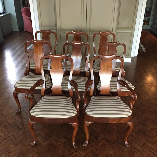 Antique Mahogany Dining Chairs - Set of 8 - Image 11 of 11