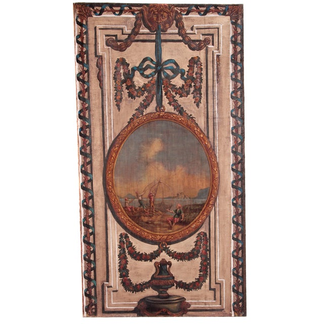 A Set of Five Large Hand-Painted Trompe l'Oeil Wall Panels - Image 6 of 11