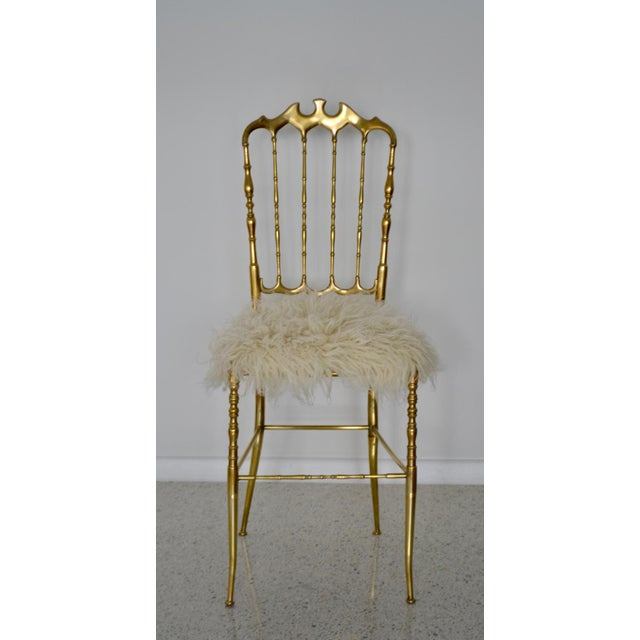Mid-Century Brass Side Chairs - a Pair For Sale - Image 9 of 13