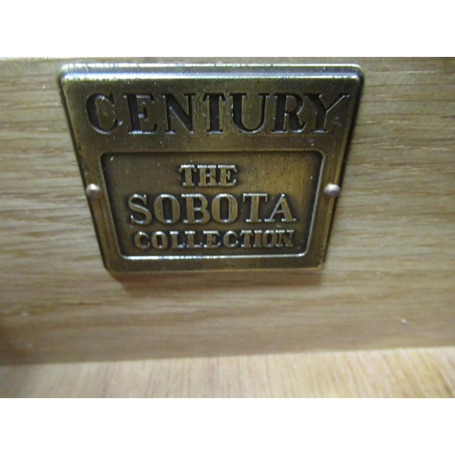 Wood 1980s Vintage Century Furniture Asian Inspired Sobota Bachelors Chest For Sale - Image 7 of 13