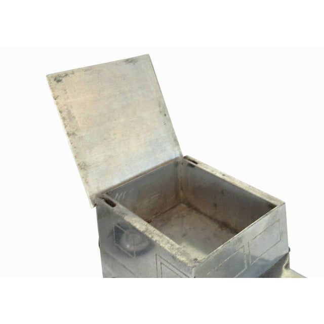 Hand Machined WWII Jeep Cigarette Case, Lighter and Ashtray Set - Image 9 of 10