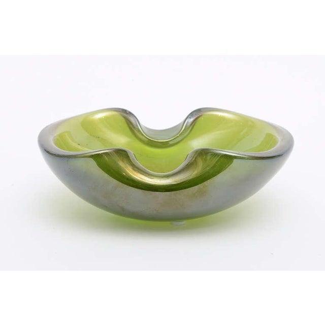 Beautiful Italian Murano Seguso Gold Iridescent Aventurine Glass Bowl - Image 5 of 10