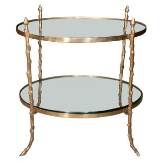 Faux Bois Brass Table in Manner of Jansen
