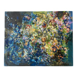 "Modern Abstract ""Enchanted Garden"" Oil Painting by Jenny Vorwaller"
