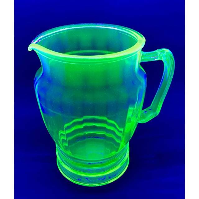 Anchor Hocking Green Uranium Glass Pitcher - Image 2 of 10