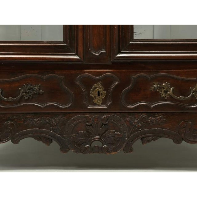 French Antique French Walnut Armoire or China Cabinet For Sale - Image 3 of 13
