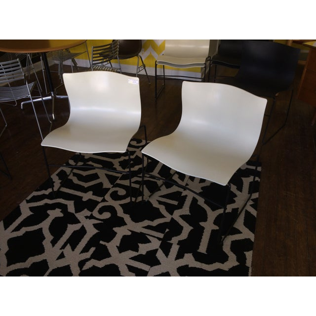 Knoll Vignelli Handkerchief White Chairs- Set of 4 - Image 2 of 6
