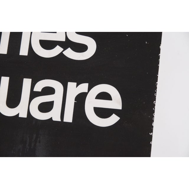 1980s 1980s Americana New York City Times Square Subway Sign For Sale - Image 5 of 7