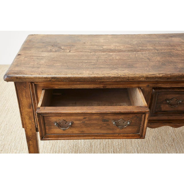 19th Century 19th Century English Country Georgian Oak Sideboard Dresser For Sale - Image 5 of 13