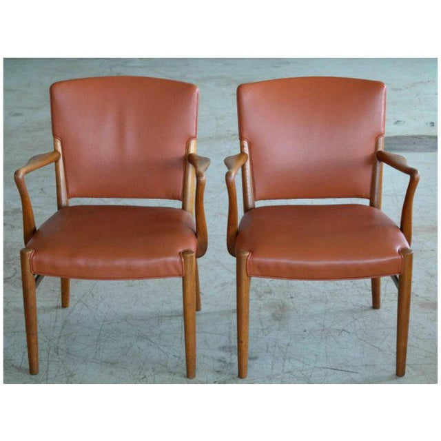1960s Fritz Hansen Attributed Large Conference or Dining Table Set Eight Chairs For Sale - Image 5 of 12