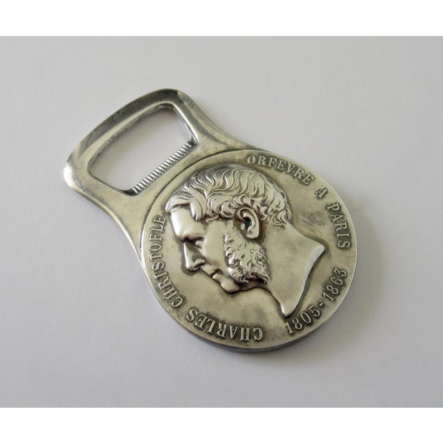"""French Vintage Christofle Silver Bottle Top Opener, """"Coll. Gallie,"""" For Sale - Image 3 of 13"""