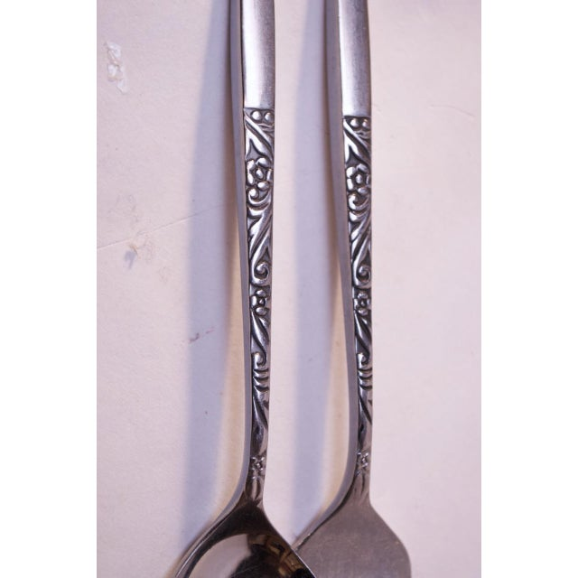 Mid-Century Japanese Modern Ekco Epic Forty-Piece Stainless Steel Flatware Set For Sale - Image 9 of 13