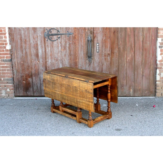 Spanish Colonial Folding Gateleg Table For Sale In Los Angeles - Image 6 of 12