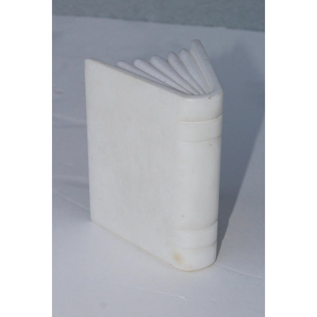 Stone 1950s Italian Carrara Marble Bookends For Sale - Image 7 of 10
