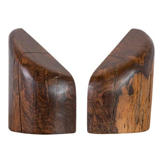 Don Shoemaker Mexican Modern Cocobolo Bookends - a Pair For Sale