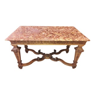 Best ANTIQUE FRENCH 19th C Hand CARVED WALNUT Center Dining Table