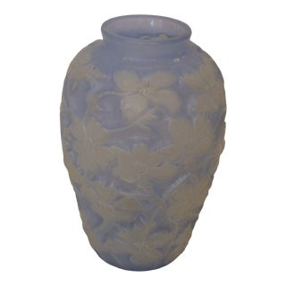Early 20th Century Lalique Style Vase For Sale