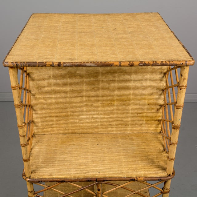 Mid-Century French Riviera Bamboo & Rattan Bookcase For Sale - Image 9 of 11