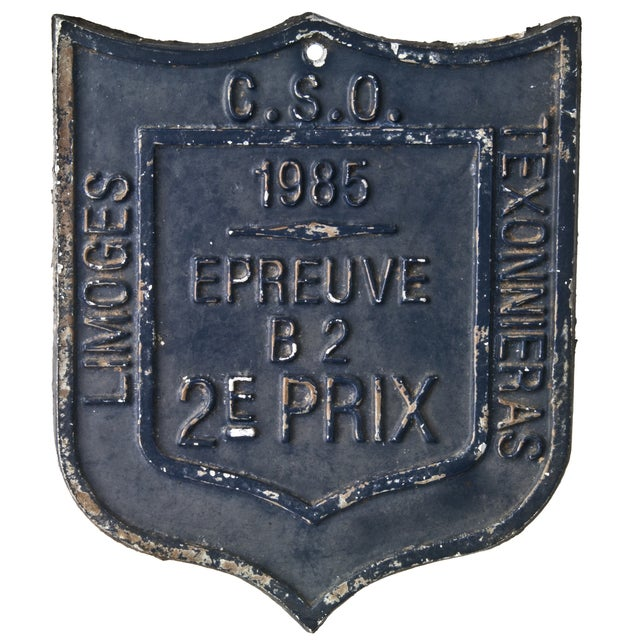 French 1985 Award Plaque - Image 1 of 2