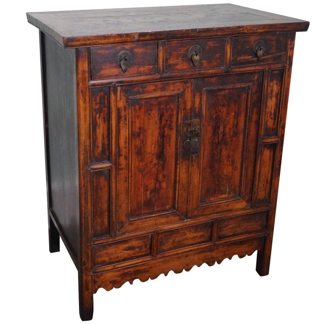 Rustic Chinese Console with Drawers - Image 1 of 10