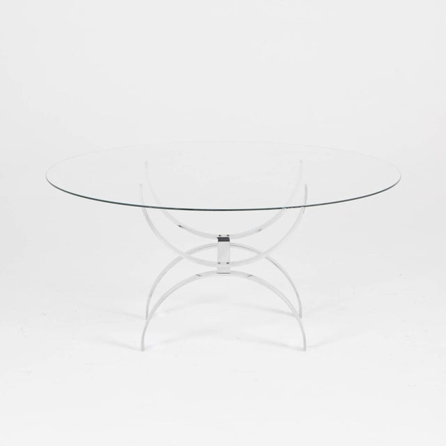 Pace Style Glass and Chrome Coffee Table - Image 4 of 7