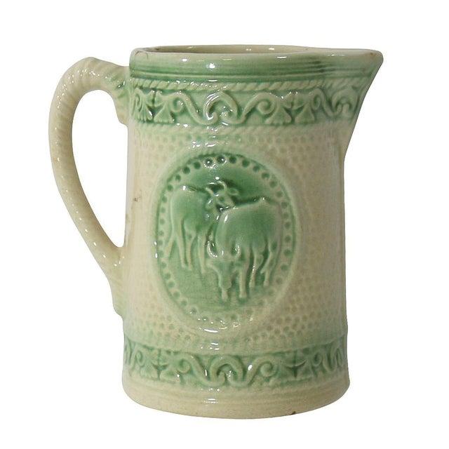 Antique Ceramic Cow Pitcher For Sale