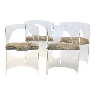 1980s Vintage Interlude Corin Circle Chairs - Set of 4 For Sale