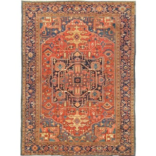 "Pasargad Home Antique Heriz Area Rug - 11'2"" X 15'3"" For Sale"