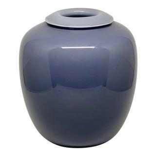 Larry Laso for Mikasa Ombre Purple Glass Vase For Sale