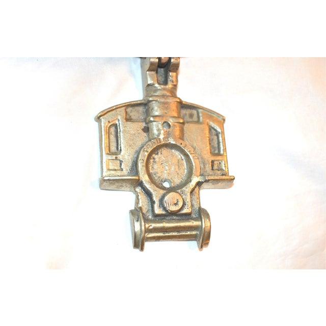 Gold 1970s Locomotive Door Knocker For Sale - Image 8 of 10
