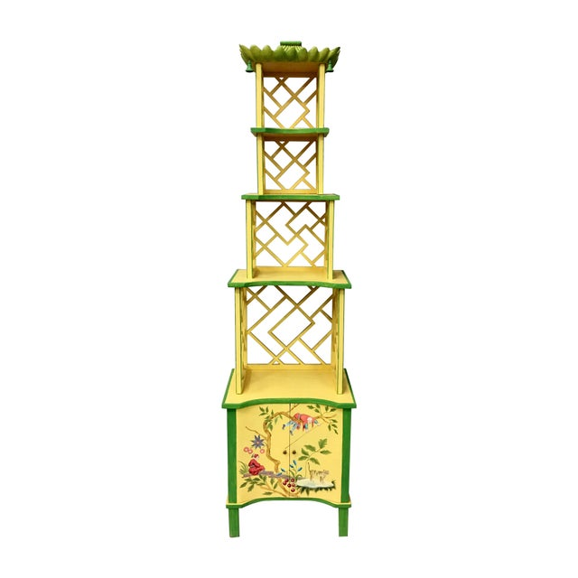 Chinese Style Painted Shelf For Sale - Image 11 of 11