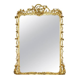 Rococo Revival Gilt Gesso Mirror For Sale