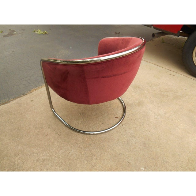 Mid-Century Thonet Cantilever Barrel Chair For Sale - Image 5 of 8