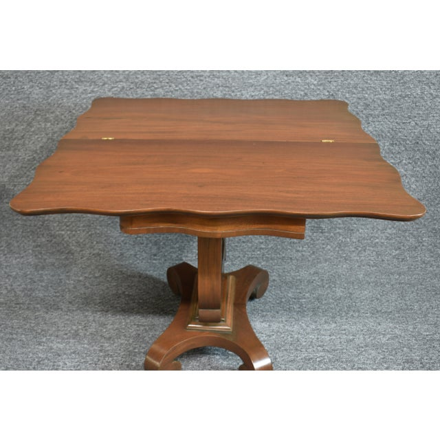 Antique Empire 1830s Mahogany Lyre Base Game Table For Sale - Image 9 of 11