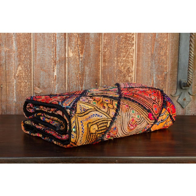 Indian Metallic Tapestry For Sale - Image 9 of 9