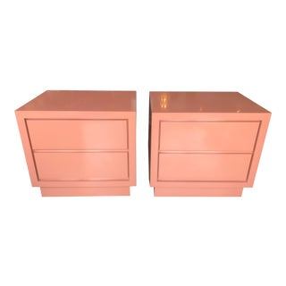 1980s Vintage Laminate Nightstands - a Pair For Sale
