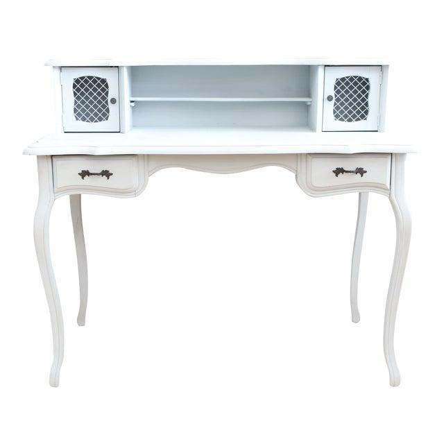 Vintage Distressed Writing Vanity Desk For Sale