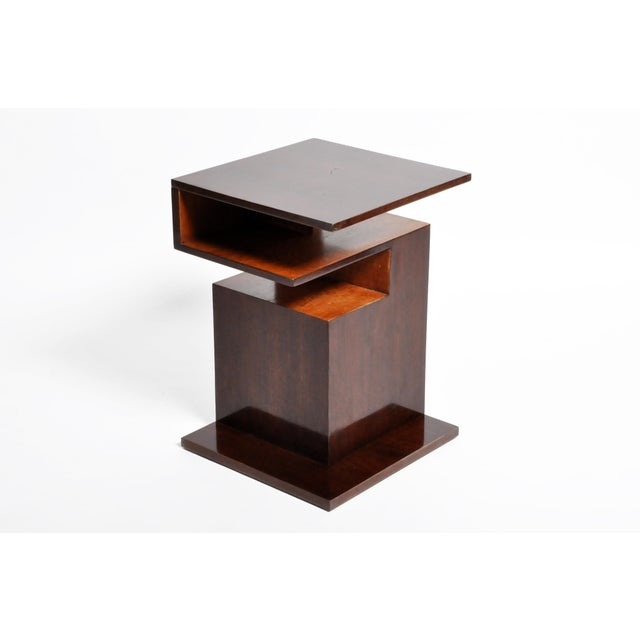 Hungarian Walnut and Maple Veneer Side Table With Shelves For Sale - Image 13 of 13